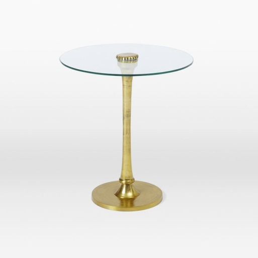 Molded Brass Side Table, West Elm.
