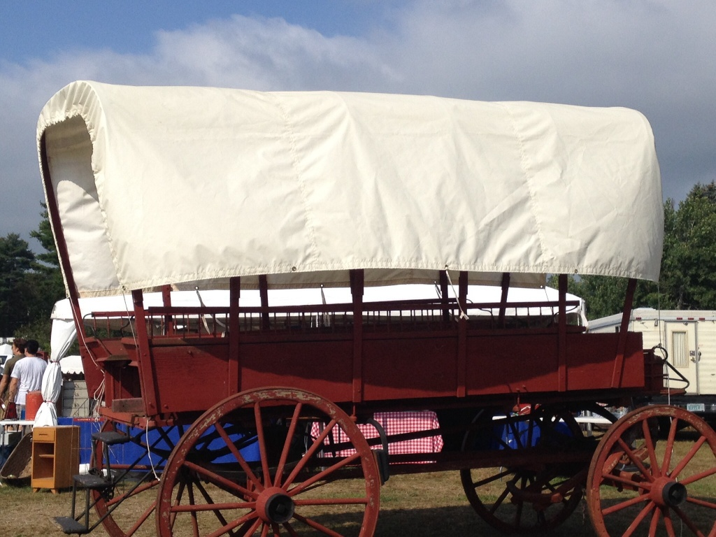 covered wagon at brimfield