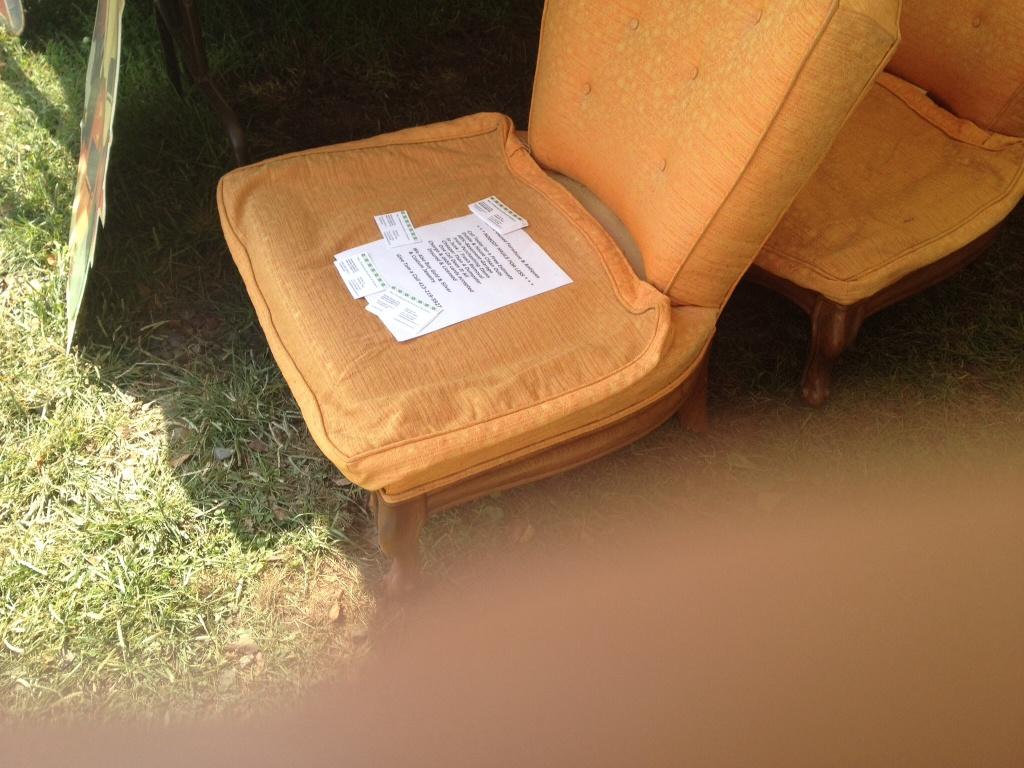 slipper chairs at brimfield